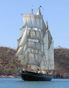 "Barquentine ""Leeuwin"", built in 1986"