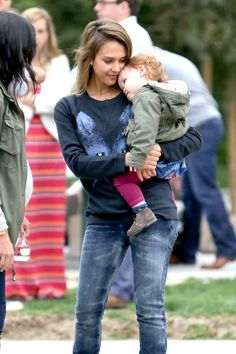 Jessica Alba and Haven get into Full Swing