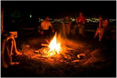 a wedding bonfire...