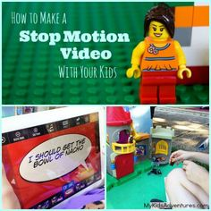 Looking for a way to combine creativity, storytelling and technology? Make a stop motion video with your kids. Transform toys or clay into characters that move. Motion Video, Stop Motion, Digital Technology, Educational Technology, Lego For Kids, Digital Storytelling, Legos, Kids Learning, Activities For Kids