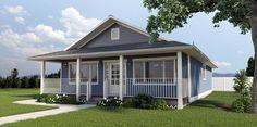 1260 Sq. Ft. Economical Rancher Home w/ Front Porch (HQ Plans & Pictures) | Metal Building Homes