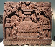 File:Worship at a Stupa, from railing of the Bharhut Stupa, Shunga dynasty…