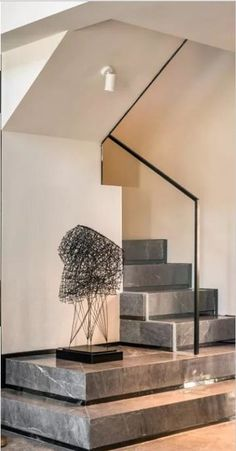 Stairs Design Stone Railings 24 Super Ideas You are in the right place about Stairs eyecatcher Here we offer you the most beautiful pictures about the Stairs runner you are looking for. Home Stairs Design, Interior Stairs, Home Interior Design, Stair Design, Interior Modern, Stair Handrail, Staircase Railings, Stairways, Marble Stairs
