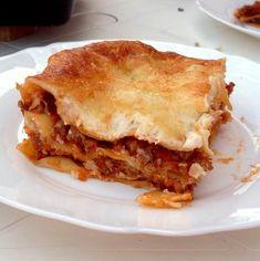 Bolognai lasagne II. Recept képpel - Mindmegette.hu - Receptek Tzatziki, Bologna, Ethnic Recipes, Foods, Lasagna, Food Food