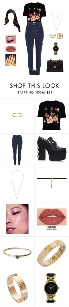 """""""Demi Lovato - cool for the summer"""" by kyndraxsvt ❤ liked on Polyvore featuring River Island, Gucci, Shaun Leane, BCBGeneration, Smashbox, Satomi Kawakita, Cartier and Chanel"""