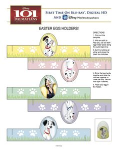 101 Dalmatians Easter Egg Holders!