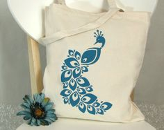 TOTEBAG Screenprinted Canvas Cotton Bag.  sweetharvey  $12