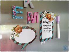 Blog Craft Passion: Tabliczki magnetyczne na notatki