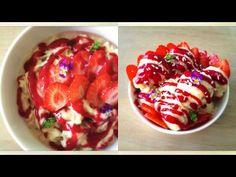 Strawberry Banana Ice Cream Sundae with Raspberry Mint Sauce (Raw Vegan + Free From Dairy, Gluten & Refined Sugars!)  #RawFood #RawVegan #Vegan #SugarFree #GlutenFree #DairyFree #BananaIceCream #RawVeganIceCream #IceCreamSundae #IceCream #VeganIceCream #StrawberrySundae For the written version of this recipe, click here: http://www.julieslifestyle.com/strawberry-banana-ice-cream-sundae-with-raspberry-mint-sauce/