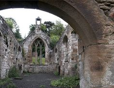 Temple [Knights Templar] Church Scotland, ruin, Masonic graves, plus the preceptory arch which stands just to the east of the village about half a mile from the church.