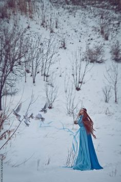 500px / Untitled photo by ViCOOLya & SAIDA - #fantasy #fairytale #Princess #queen #medieval #blue #white #Gorgeous #longhair