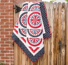 RJR Redwork Meets Bluework Quilt Kit - Quilting Kit includes Fabric & Pattern!