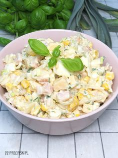 Sałatka Weekendowa Pasta Salad, Potato Salad, Cabbage, Potatoes, Lunch, Vegetables, Cooking, Ethnic Recipes, Food