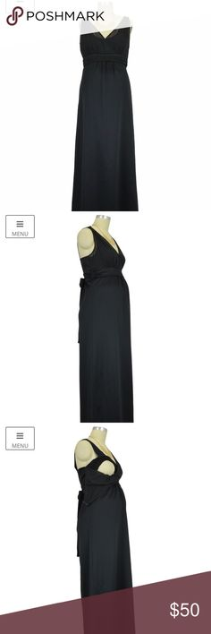 Figure 8 maternity Formal Maternity Nursing Dress Black satin and georgette gown is the perfect nursing dress for your occasion. Belly of the dress is flattering for new mommy tummies and lays on the body nicely. Pictures do not do this dress justice. Bought for an event and went with a shorter option I had due to weather. Nursing dress. Maternity dress. Sophie & Eve Dresses
