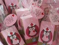 Nurse owls tissue holder. Using Stampin Up Owl Punch!