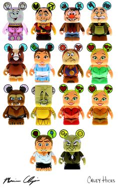 The vinylmation events page has shared some information about the Beauty and the Beast series, including an artist signing for this series.  But more importantly we have seen some details on the variants for this series which include The Bimbettes and a new figure which is the Beast in human …