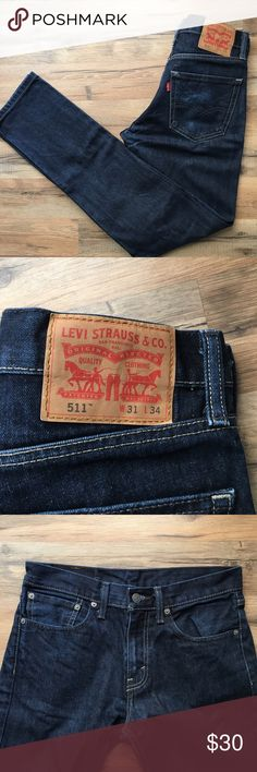 Levi's 511 slim fit jeans EUC, worn once or twice. Hard to find size - 31 x 34 Levi's Jeans Slim