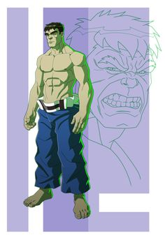 HAS: HULK-BANNER MID-TRANSFORMATION by Jerome-K-Moore