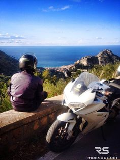 Looking at Cefalù, a nice town by the sea! #motorcycle #tour #italy