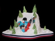 Photo 1 of 1 in Snowboarding Cake
