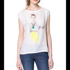 NEW! Women's Bright T-Shirt NEW! Zara Women's Bright T-Shirt Zara Tops Tees - Short Sleeve
