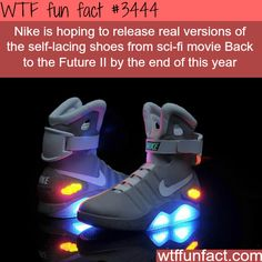 """Nike's """"Back to the Future"""" shoes were released a couple of months ago but not a ton of them and they were released in raffles, etc."""