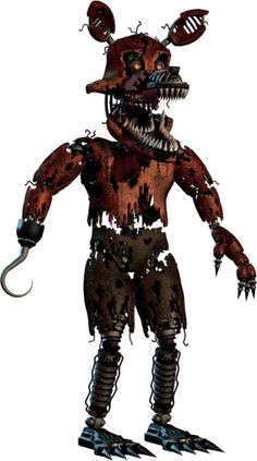 Full body photo of Nightmare Foxy from Five Nights at Freddy's 4. #FNAF4