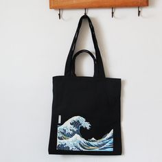 ASAPS Black Printed Vintage Canvas Tote Bag with Handles *** To view further for this item, visit the image link. Vintage Canvas, Shopper Bag, Black Tote Bag, Cotton Bag, Cloth Bags, Leather Handle, Canvas Tote Bags, Reusable Tote Bags, Fun Stuff