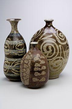 Three vases by Peter Voukos, 1952. Photo by Dan Kvitka.
