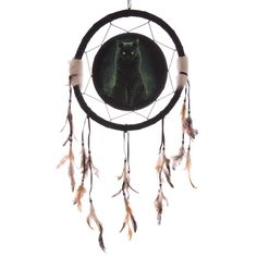 Fantasy Magical Black Cat and Ouija Board Medium Dreamcatcher 33cm His Master s Voice - Artist Lisa Parker Dreamcatchers are a great way to add