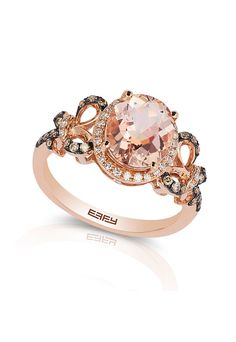 Want this Gemma Rose Gold Morganite and Diamond Ring? Enter our Holiday #Sweepstakes for the chance to win a $2000.00 Effy Jewelry gift card!> http://woobox.com/rvfz6q