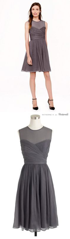 Beautiful Dress in Grey - Many other colors available too! This would be a great bridesmaid dress!