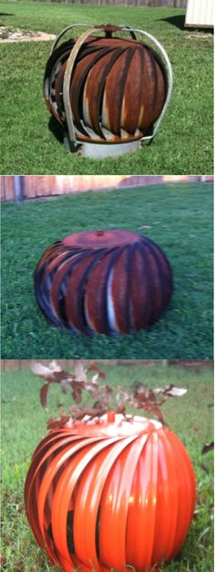 pumpkins made with discarded wind turbins