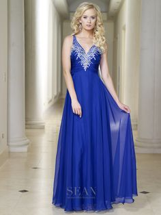 Sean Collection 50673 Royal Prom Dress
