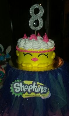 Shopkins Cake With A Tutu Stand