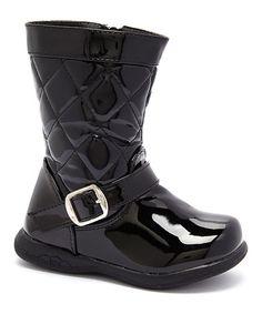 Look at this #zulilyfind! Black Quilted Boot #zulilyfinds