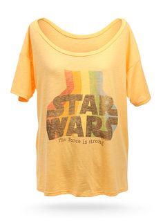 ThinkGeek :: Star Wars Retro Off-the-Shoulder Ladies' Tee $24.99