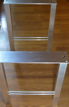 The BEST Metal Table Legs 2 Square SET of 2 H Legs