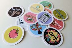 Put the fun back into planning ... Student reminder stickers for diaries and calendars. Pinned for Kidfolio, the parenting mobile app that makes sharing a snap!