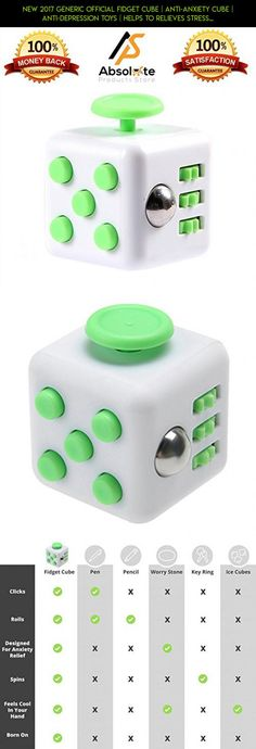 New 2017 Generic Official Fidget Cube | Anti-anxiety Cube | Anti-Depression Toys | Helps To Relieves Stress, Anxiety and Boredom | Stress Cube for Fidgeters | Anti-Depression Toys (White/Green) #camera #racing #parts #cube #tech #drone #products #fpv #plans #white #technology #fidget #green #gadgets #kit #and #shopping
