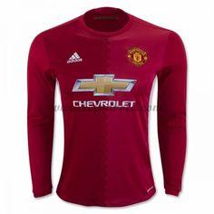 Billige Fodboldtrøjer Manchester United 2016-17 Langærmet Hjemmebanetrøje