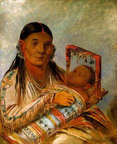 George Catlin (American artist, 1796-1872) Chée-ah-ká-tchée, Wife of Nót-to-way