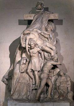 P1230425 Paris IV eglise St-Gervais-St-Protais statue rwk - Église Saint-Gervais-Saint-Protais de Paris — Wikipédia