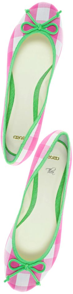 ASOS ● Pink and green gingham flats