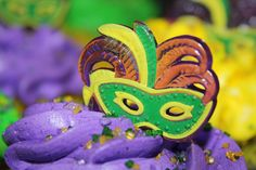 Mardi Gras Cupcake photo by peachy92, via Flickr. Not sure where the cupcake is from.
