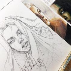 𝙸 𝚜 𝚊 𝚊 𝚊 𝚝 𝚓 𝚞 𝚑 ✩ art drawings sketches, pencil drawings, guache Portrait Sketches, Art Drawings Sketches, Pencil Drawings, Sketch Art, Drawing Heart, Art Du Croquis, Arte Obscura, Face Sketch, Arte Sketchbook