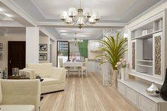 Design interior living clasic de lux casa Constanta .