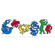 Google doodle (Keith Haring)