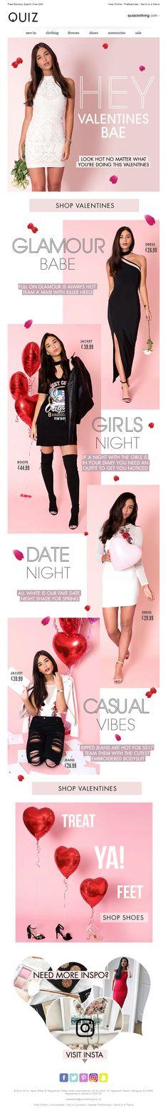 Valentines Day Email from Quiz #EmailMarketing #Email #Marketing #Fashion