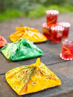 Wrap sandwiches in bandannas-- cute for a summer party.